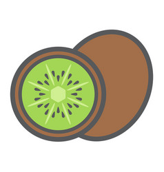 kiwi line icon fruit and diet graphics vector image vector image