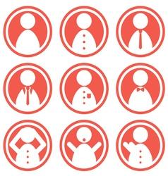 man icon in color vector image vector image