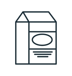 Milk in box isolated flat icon vector image