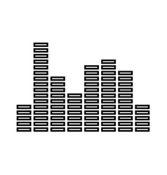 music equalizer black icon vector image vector image