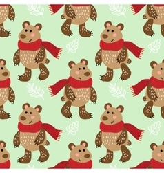 Seamless pattern with bears vector image vector image
