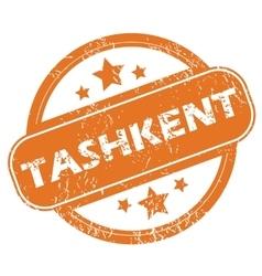 Tashkent round stamp vector