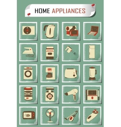vintage household appliances vector image