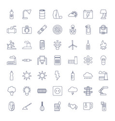 49 energy icons vector