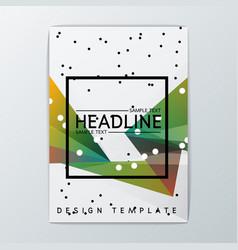 Abstract brochure background design vector