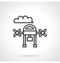 Aerial survey black line design icon vector image
