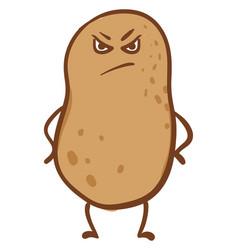 Angry potato or color vector