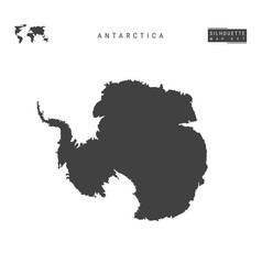 Antarctica map isolated on white background vector