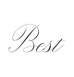 best handwritten word vector image