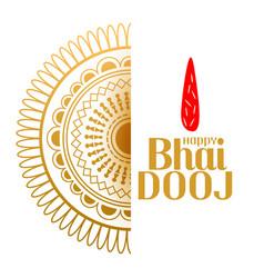 Bhai dooj indian style decorative background vector