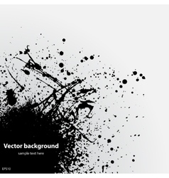 Black grunge ink blot vector