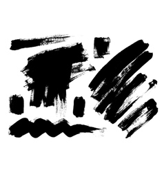 Black grungy abstract hand-painted vector image