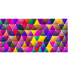 Bright color saturated moody triangle bg design vector