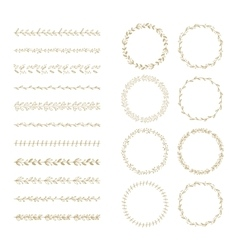 brush and laurel wreath set vector image