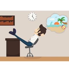 Businessman relax dream vector image