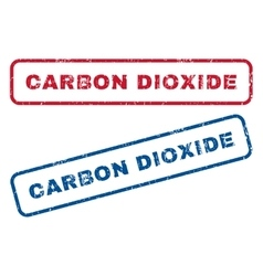 Carbon Dioxide Rubber Stamps vector