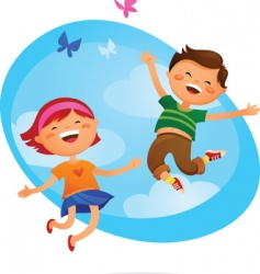 children at play vector image