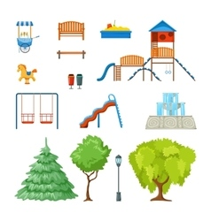 City Park Icon Set vector image