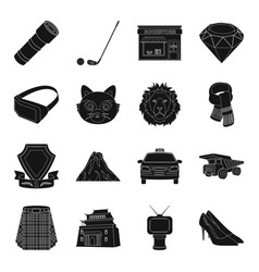 Clothes mine mining and other web icon in black vector