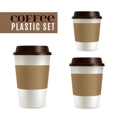 Coffee Covers Set vector image