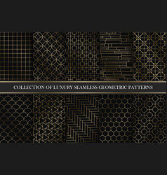 collection art deco geometric patterns vector image
