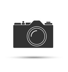 Common slr camera icon sign isolated on white vector