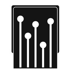 Computer processor icon simple vector
