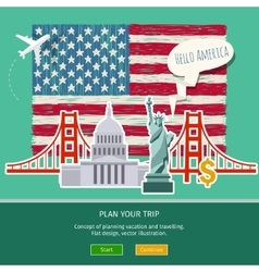 concept travel or studying english vector image