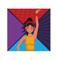 disco woman cartoon vector image