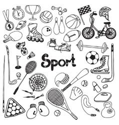 Doodle Sport Set vector