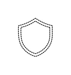 Dotted shape shield security protection web symbol vector