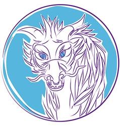 dragon front head clipart vector image vector image