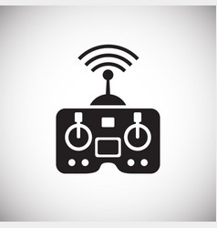 Drone controller icon on white background for vector