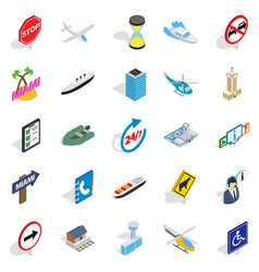 expensive transport icons set isometric style vector image