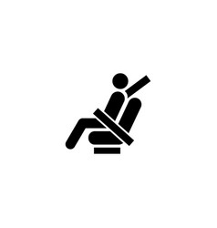 fasten seat belt flat icon vector image