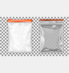 filled foil pouch bag packaging with zipper vector image