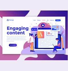 Flat modern design of wesite template - engaging vector