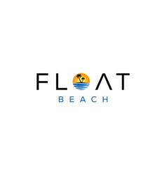float beach logo vector image