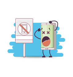 Funny smartphone comic character vector