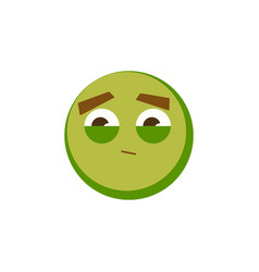 green emoji icon for app game ui or web design vector image