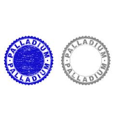 Grunge palladium textured stamps vector