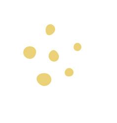 hand drawn decor yellow vector image