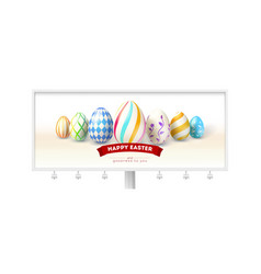 happy easter design of festive billboard with vector image