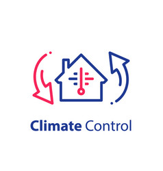 House climate control system change temperature vector