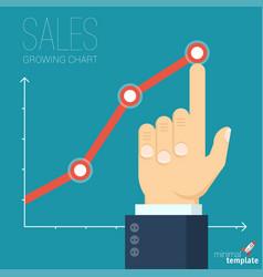 increasing business graph vector image