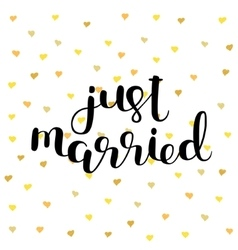 Just married Brush lettering vector