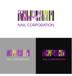 logo for nail design company with business vector image