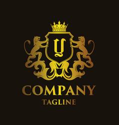 Luxury letter y logo vector
