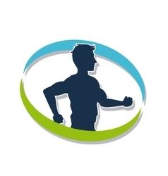 Man running of Healthy lifestyle design vector