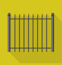 Metal barrier icon flat style vector